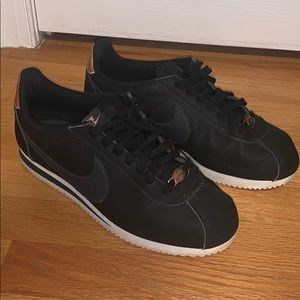 Nike Black and Rose Gold sneakers